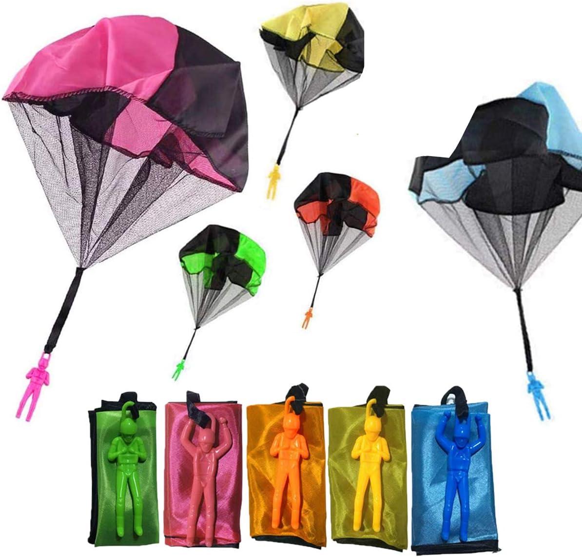 Monyus Parachute Toy 10 PCS Flying Toys Tangle Free Throwing Han
