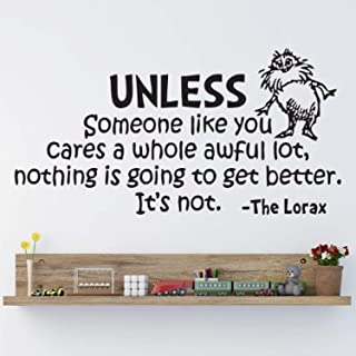 Dr Seuss Wall Quotes The Lorax - Wall Vinyl Decal Quote Playroom Children Bedroom Baby Decor - Nursery Mural Vinyl Decoration Sticker Home Art Print