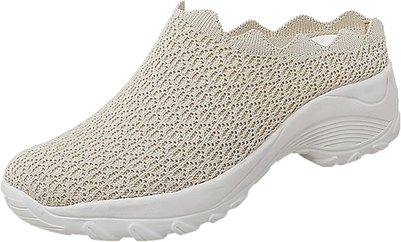 NLLSHGJ Shoes for Women Summer Women's Round Toe Wedge Sport Fas