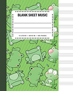 Blank Sheet Music: Froggy Frog And Friends Cover 8x10