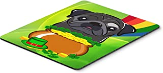 Caroline's Treasures BB2007MP Black Pug St. Patrick's Day Mouse Pad, Hot Pad or Trivet, Large, Multicolor