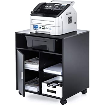 Gray Buddy Products Wood Laser Printer and Copier Stand with Drawer 23 x 31.125 x 23 Inches 9140-18