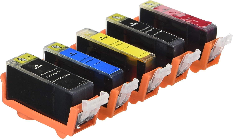 Monoprice MPI Compatible Canon PGI-220/CLI-221 Bundle -Photo Black, Cyan, Magenta, Yellow, Black