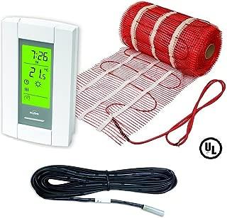 30 Sqft Mat, Electric Radiant Floor Heat Heating System with Aube Digital Floor Sensing Thermostat