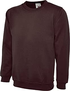 Mens Wolf Pawprint-2 Crewneck Long Sleeve Cotton Fleece Sweatshirt Sweaters