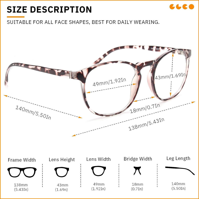 IBOANN 3 Pack Blue Light Blocking Glasses Women/Men Round Fashion ...