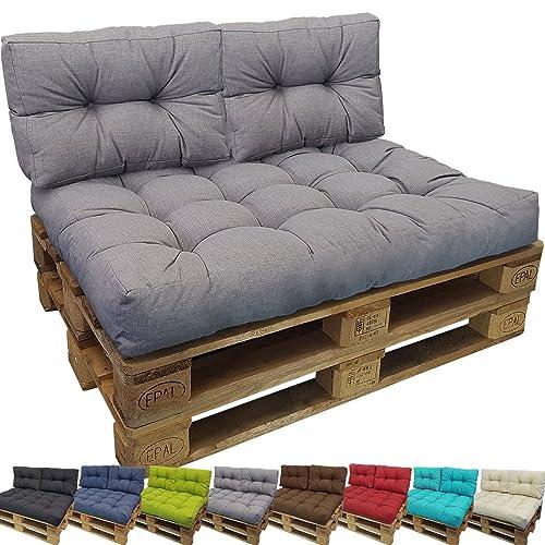 PROHEIM Cojines para palets Tino Lounge - Cree un Elegante sofá Acolchado en Palet - Repelentes