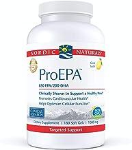 Nordic Naturals ProEPA, Lemon - 180 Soft Gels - 1210 mg Omega-3 - High-Intensity EPA Formula for Healthy Mood, Heart Healt...