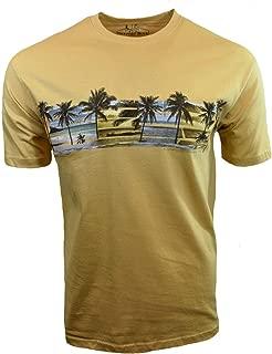 Newport Blue Men's T-Shirt, Pacific Ocean Sunset, Mustard