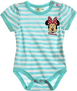 0003c7eaeed73 Minnie Body Manches Courtes bébé Fille Rayé Blanc Bleu de 3 à 24mois