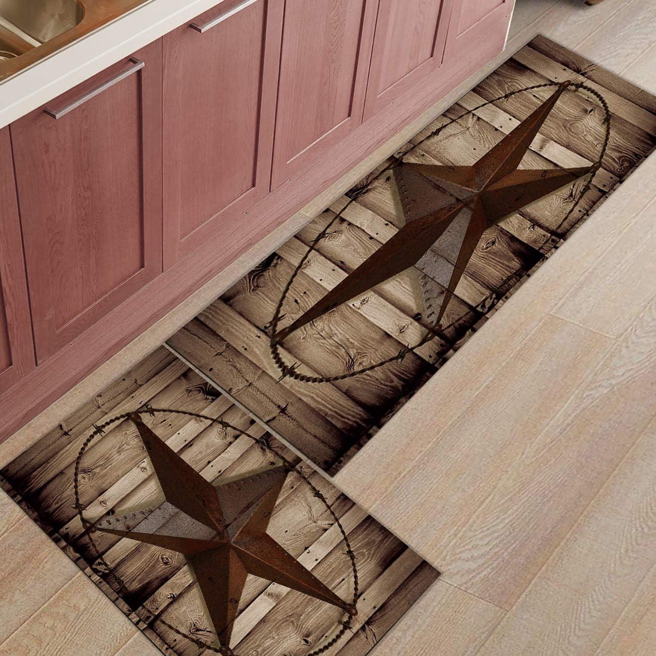 Shine-Home Regular discount 2 Piece Non-Slip Kitchen Deluxe Backing Mat R Doormat Rubber