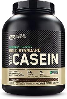 Optimum Nutrition Gold Standard 100% Micellar Casein Protein Powder, Naturally Flavored Chocolate Creme, 4 Pound (Packagin...