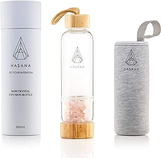 healing crystal bottle