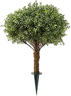 Plow & Hearth Faux Boxwood Topiary Sphere, 20 Dia. x 20 H