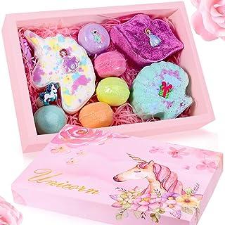 Unicorn Bath Bomb Gift Set - Include Unicorn Lips Sea Shell Macarons Handmade All Natural Essential Oil and Organic Bath B...