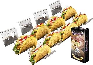 Soportes Para Tacos Mexicanos - Bandeja Para Tacos Lisa Para 2 o 3 Tacos - Paquete de 4 Unidades
