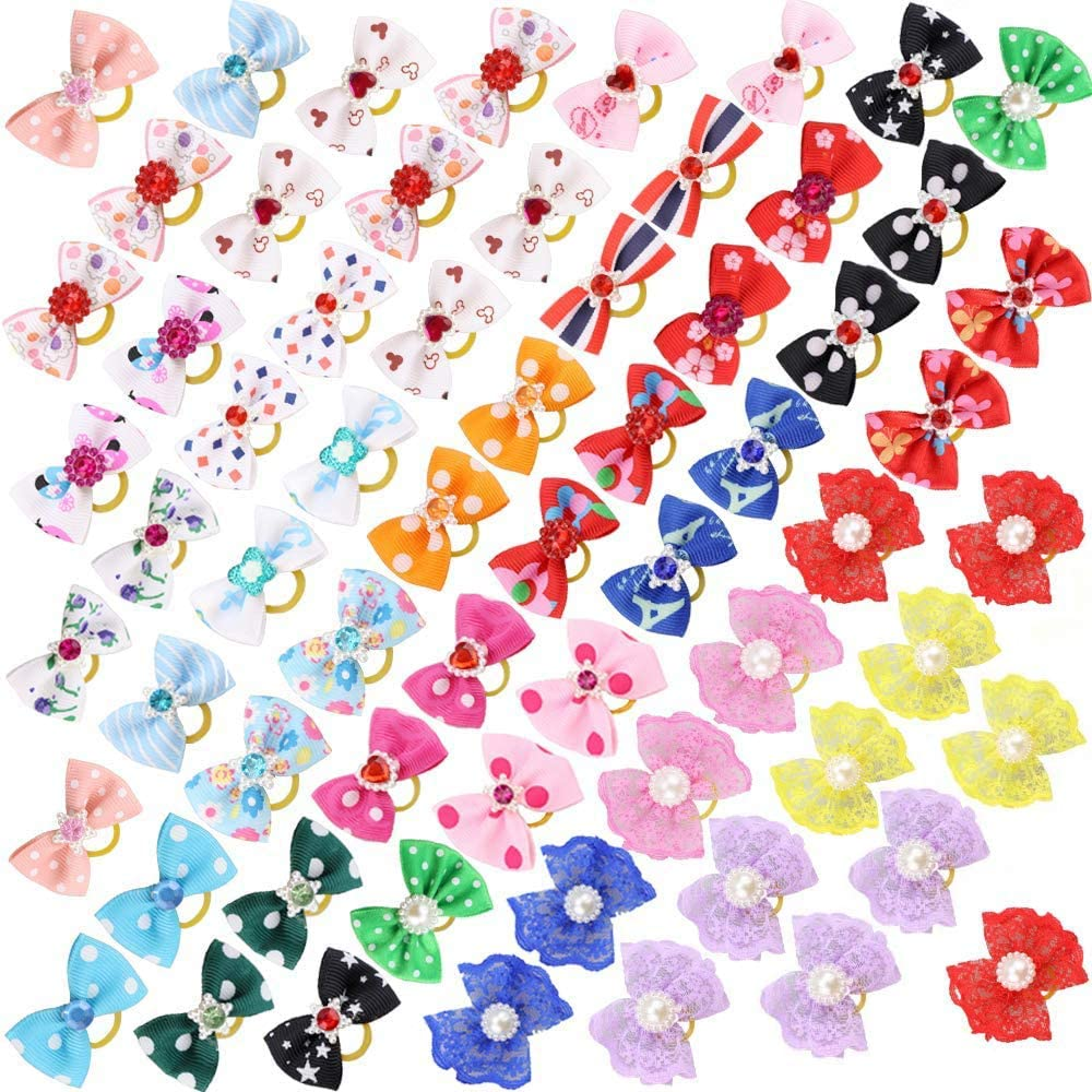 Over item handling Comsmart 60Pcs Dog Bows 30 Pairs Puppy Yorkie Sales of SALE items from new works wit Hair