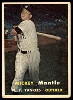 1957 Topps #95 Mickey Mantle VG-EX Yankees