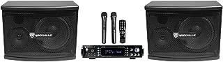 Rockville RPA70WBT Bluetooth Karaoke Amplifier/Mixer+(2) Mics+(2) 6.5