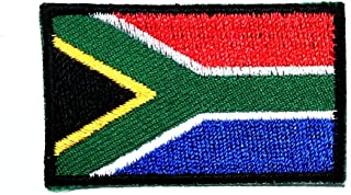 HHO Mini South Africa Flag Patch National Flag Patch Embroidered DIY Patches, Applique Sew Iron on for Everyone Craft Patch for Bags Jackets Jeans Clothes Patch Jacket T-Shirt Sew Iron on Costume