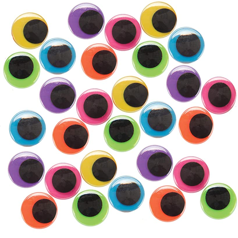Wiggle Eyes, 100 Piece Googly Eyes, 20mm Large – Arts & Crafts Accessory, Assorted Neon Bright Colors