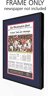 Washington Post Newspaper Frame - with Washington Nationals Colors Double Mat