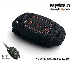 Keyzone® Silicone Key Cover for Hyundai Venue Flip Key (Black)