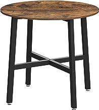 VASAGLE stół do jadalni mały, okrągły stół kuchenny, do salonu, biura, 80 x 75 cm (Ø x H), wzornictwo przemysłowe, vintage...
