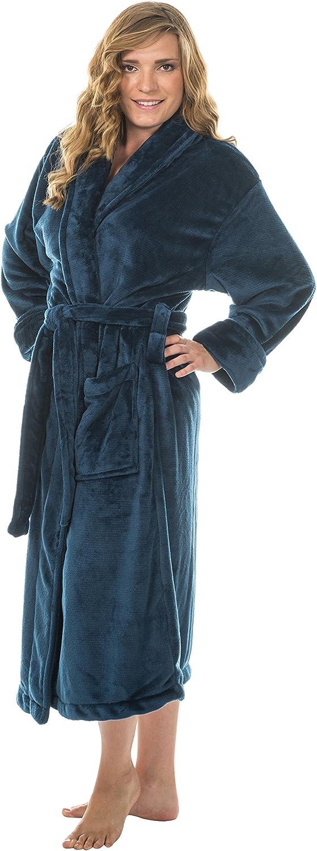 Comfy Robes Women's Tahoe Microfleece Shawl Collar Bathrobe