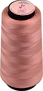 Colored Bird 1500Yard 50WT 100% Double Mercenized Cotton,Cotton Serger Sewing Thread Spool,Single Needle Floss-Light Pink, Solid-Great for Quilting,Overlock, Machine Embroidery (Color No,:3779)