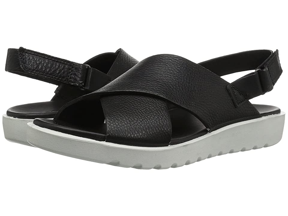 ECCO Freja Slide Sandal II (Black Cow Leather) Women