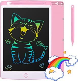 Tecboss LCD Writing Tablet, Pink, 10 inch Electronic Drawing Pads for Kids, Portable Reusable Erasable Ewriter, Elder Mess...