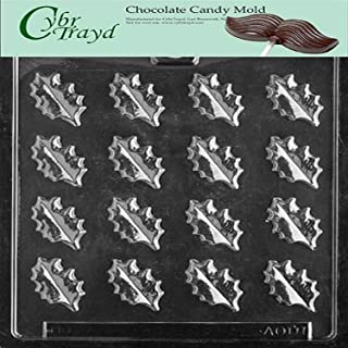 Cybrtrayd Life of the Party AO111 Small Oak Leaves Chocolate Candy Mold in Sealed Protective Poly Bag Imprinted with Copyrighted Cybrtrayd Molding Instructions