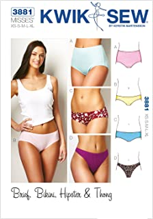 b2fcde6efe956 Kwik Sew Pattern 3881 Misses Panties Brief, Bikini, Hipster and Thong Sizes  XS-