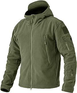 BIYLACLESEN Men's Outdoor Tactical Softshell Fleece Hoodie Full Zip up Jackets Coats