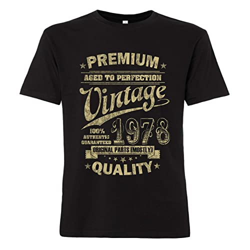 ShirtWorld - Aged to Perfection 1978 zum 40. Geburtstag - Herren T-Shirt