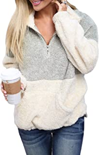 Women's Cozy Oversize Fluffy Fleece Sweatshirt Pullover Outwear ( 18 Color,S-XXL )