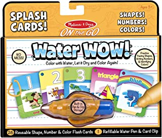 Melissa and Doug Water Wow Splash Cards Shapes, Numbers and Colors 5237 - Arts and Crafts