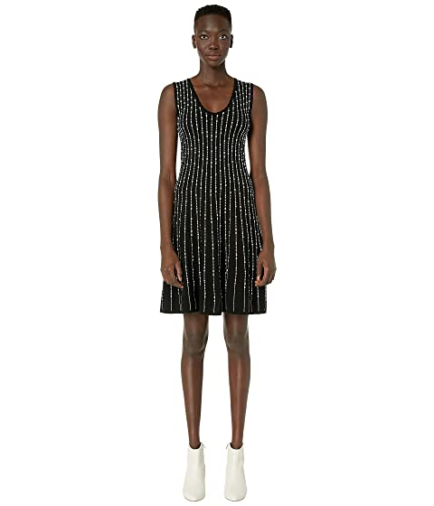 M Missoni Sleeveless U-Neck Short Dress with Pearl Stitch
