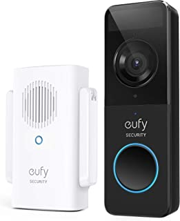 Eufy E8220CW1 Security Slim 1080P Battery Doorbell with Homebase Mini Repeater