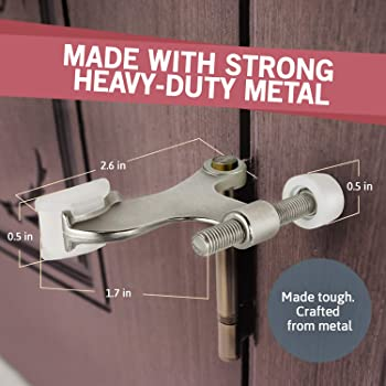 Jack N' Drill Hinge Pin Door Stop (7 Pack) - Convenient Door Stopper for Door Hinges | Durable, Heavy Duty Metal Cons...