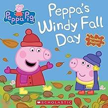 peppa pig windy autumn day