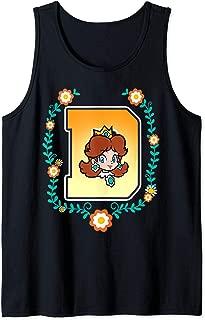 Super Mario Princess Daisy University Letter Portrait Logo Tank Top