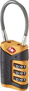 TSA-Approved Combination Luggage Lock With Steel Cable