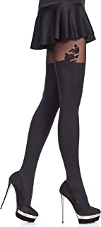 Merry Style Women's Patterned Tights MS 370 60 DEN