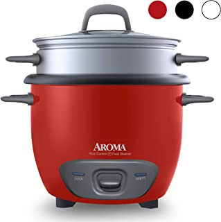 Aroma Housewares 14-Cup (Cooked) (7-Cup UNCOOKED) Pot Style Rice Cooker and Food Steamer (ARC-747-1NGR)