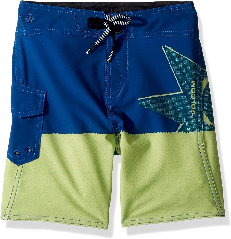 Volcom Little Boys' Lido Block MOD 13.5  Adjustable Waist Boardshort