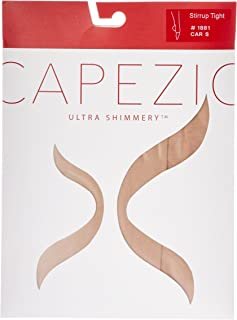 Capezio Women's Ultra Shimmery Stirrup Tights - Womens