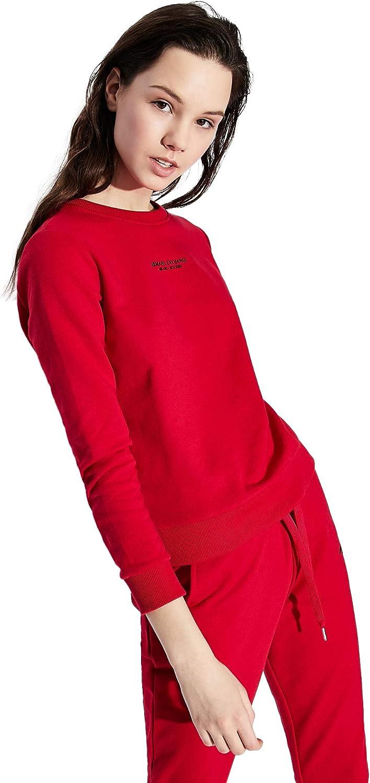 AX Armani Exchange Women's Mini Logo Zip-up Hoodie Sweatshirt