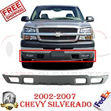 New Front Bumper Lower Valance Air Deflector Textured Gray W/Fog Light Holes For 2002-2007 Chevy Silverado LS Standard/Extended Cab Pickup Direct Replacement GM1092204 10397999